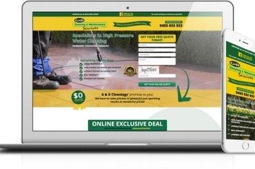 GD Pressure Cleaning Mobile, Tablet and Desktop Images