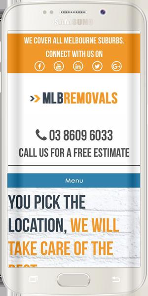 MLB Removals Mobile Responsive Website