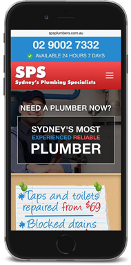 SPS Plumbers Mobile Responsive Website