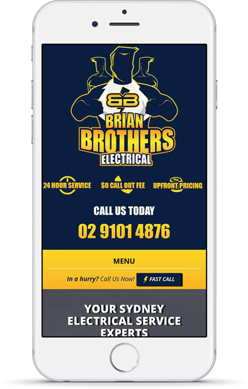Brian Brothers Electrical Mobile Responsive Website
