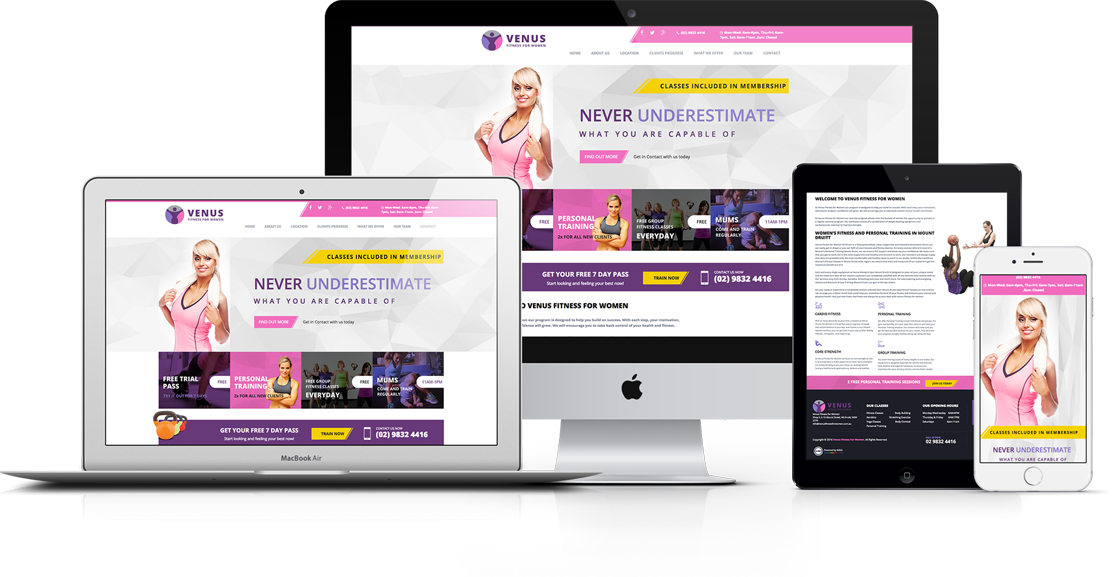 Venus Fitness For Women Website