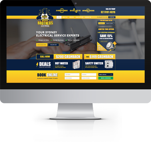 Brian Brothers Electrical Responsive Website