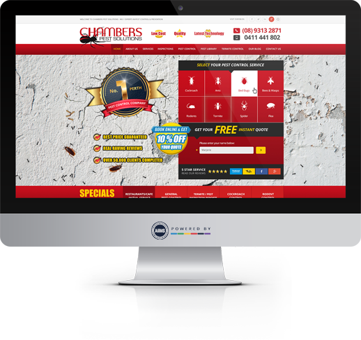 Chambers Pest Control Website