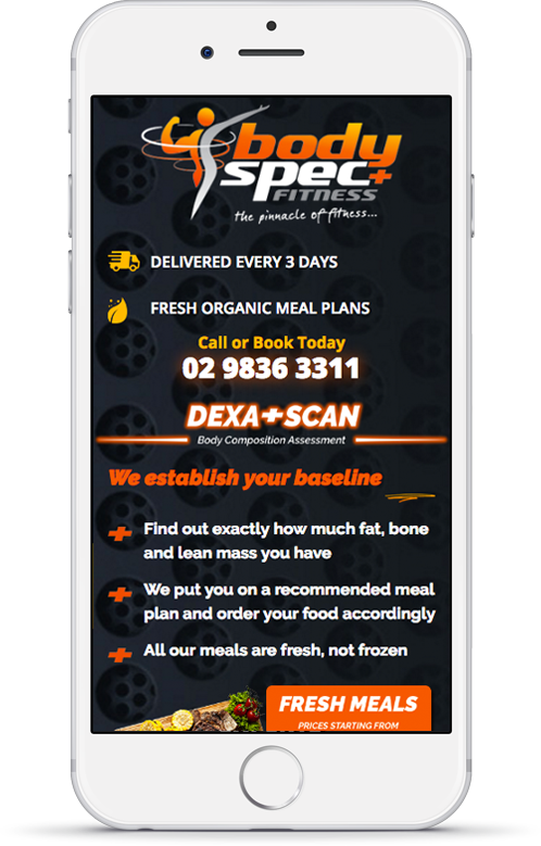 Body Spec Fitness Mobile Website