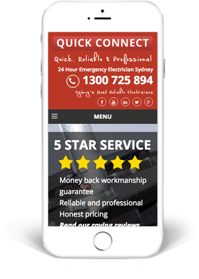 Quick Connect Electrical Mobile Website